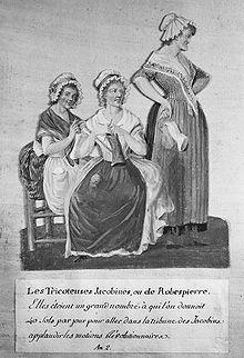Tricoteuses_1793 gouache Pierre-Étienne Lesueur