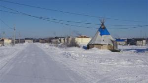 Le village d'Attawapiskat, en Ontario, sur le bord de la Baie James
