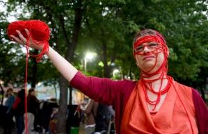 Student Protests; la tricoteuse du peuple