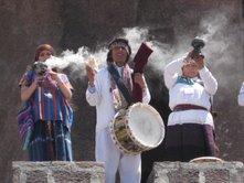 Conscience fumée et tambour rituel4 toltèques