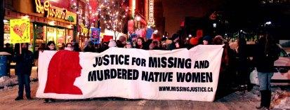 Manif Autochtone meutres de femmes