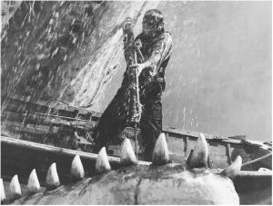 Achab dans sa lutte finale contre Moby Dick