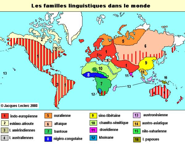 famille linguistique selon tlfq