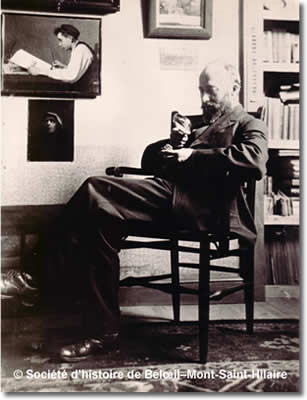 Ozias Leduc dans son atelier, ad 1925