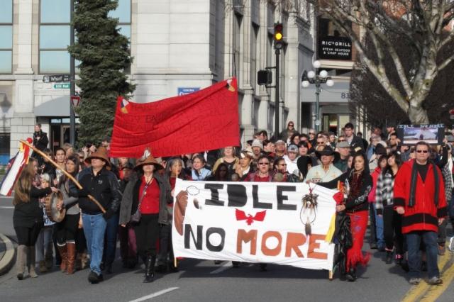 Manifestation d'Idle no more à Victoria
