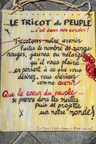 Affiche du Tricot du peuple, Montréal, sept. 2014