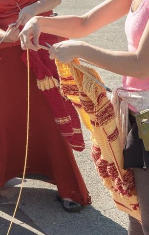Les tricots du peuple, détails, 2014