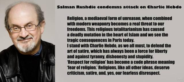Charlie Hebdo et Salman Rushdie