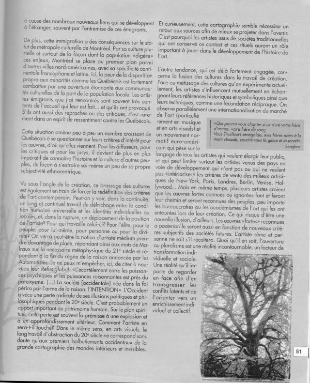Auteure : Ève Langevin, Esse Art, 1999