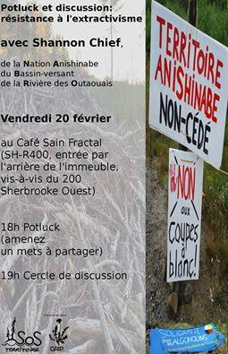 Réunion Anishnabe Solidarité NABRO ET SOS Territoire