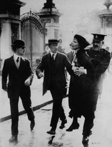 Emmeline Pankhurst, arrested,