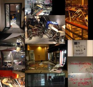 Occupation d'un jour et demi et saccage à l'UQAM, 8-9 avril 2015