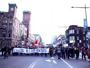 Manif anti-austérité à Québec 1er mai 2015. Crédit photo: Mickaël Bergeron