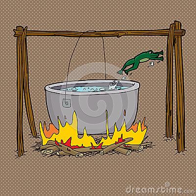 sauter-de-grenouille-du-pot-de-feu-de-camp