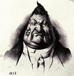 Les gens de justice_Honoré Daumier_1834