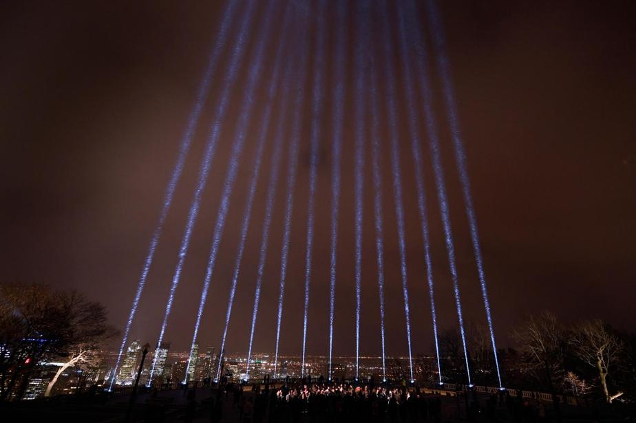 Commémoration de la tragédie à la Polytechnique, 20 ans plus tard. Crédit Bernard Brault - La Presse